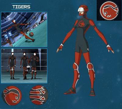 Tigres rouges galactik football - Equipe galactik football ...